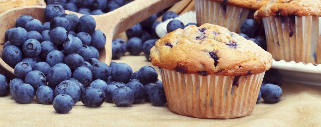 Borůvkové muffiny pro kojící maminky