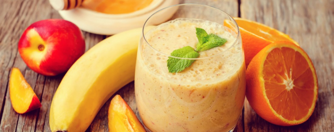 Banánovo-broskvové smoothie