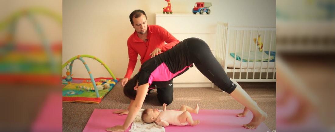 3 skvělé cviky  po porodu s miminkem