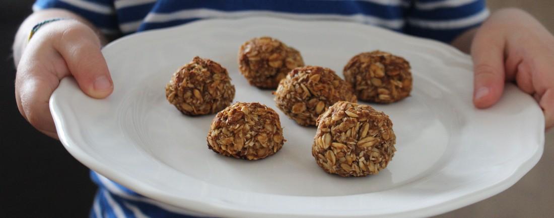Ořechovo-jablečné ovesné sušenky