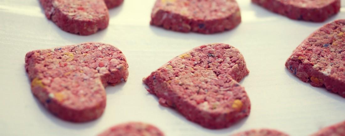 Růžové řepové sušenky