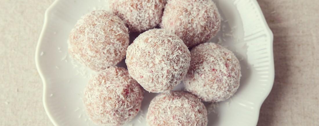Zdravé kokosové kuličky pro maminky
