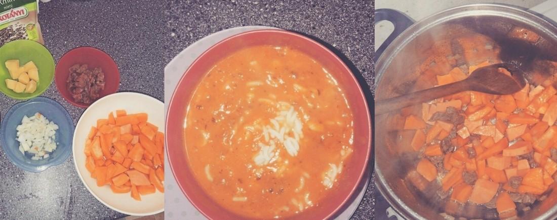 Dýňová polévka s rýží