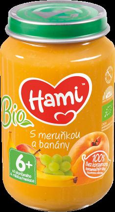 Hami přesnídávka BIO S meruňkou a banány od uk. 6. měsíce
