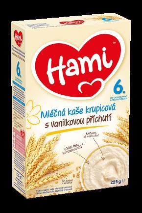 Hami mléčná kaše krupicová s vanilkovou příchutí od uk. 6. měsíce