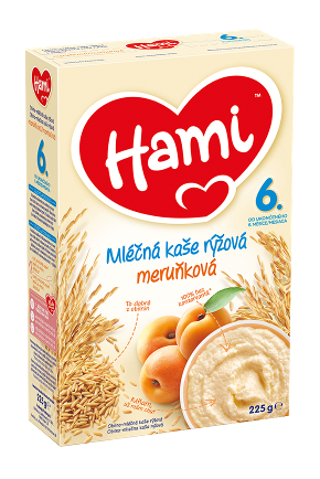 Hami mléčná kaše rýžová meruňková od 6. uk. měsíce