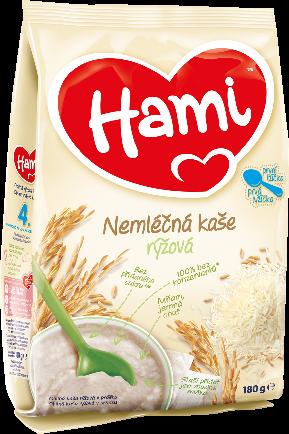 Hami nemléčná rýžová kašička první lžička