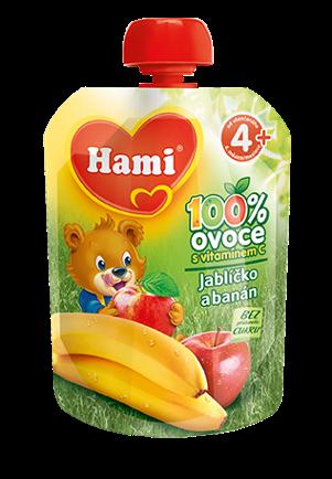 Hami kapsička jablíčko a banán první lžička