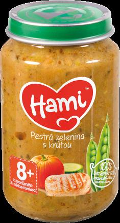 Hami příkrm Pestrá zelenina s krůtou od uk. 8. měsíce