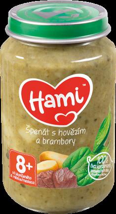 Hami příkrm Špenát s hovězím a brambory od uk. 8. měsíce