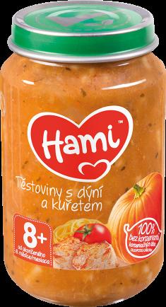 Hami příkrm Těstoviny s dýní a kuřetem od uk. 8. měsíce