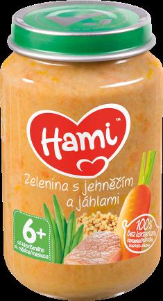 Hami příkrm Zelenina s jehněčím a jáhlami od uk. 6. měsíce