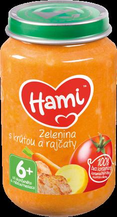 Hami příkrm Zelenina s krůtou a rajčaty od uk. 6. měsíce