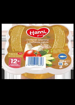 Hami talířek dušená zelenina s mořskou rybou od uk. 12. měsíce