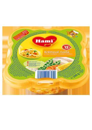 Hami talířek krémové rizoto s mrkví a hráškem od uk. 12. měsíce
