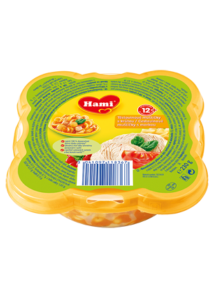 Hami talířek těstovinové mušličky s krůtou od uk. 12. měsíce