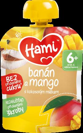 Hami kapsička Banán a mango s kokosovým mlékem